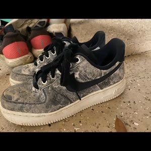 Nike marble air forces